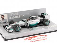 L. Hamilton Mercedes F1 W05 champion du monde bahrain GP F1 2014 1:43 Minichamps