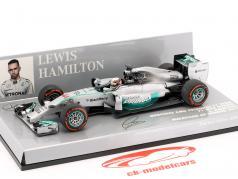 L. Hamilton Mercedes F1 W05 #44 champion du monde Malaisie GP F1 2014 1:43 Minichamps