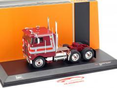 Peterbilt 352 Pacemaker truck year 1979 dark red / grey 1:43 Ixo