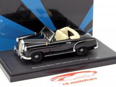 Mercedes-Benz 180 cabriolé A protótipo ano de construção 1953 preto 1:43 AutoCult