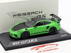Porsche 911 (991) GT3 RS Weissachの パッケージ 2018 トカゲ緑 1:43 Minichamps