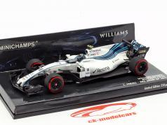 Lance Stroll Williams FW40 #18 Abu Dhabi GP formule 1 2017 1:43 Minichamps