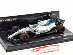 Felipe Massa Williams FW40 #19 Last GP Abu Dhabi formula 1 2017 1:43 Minichamps