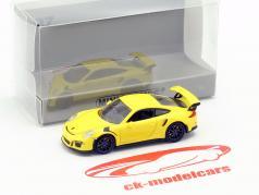 Porsche 911 GT3 RS Baujahr 2015 gelb 1:87 Minichamps