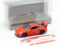 Porsche 911 GT3 RS Baujahr 2015 lava orange 1:87 Minichamps