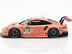 Porsche 911 RSR #92 Class Winner LMGTE Pink Pig 24h LeMans 2018 1:18 Spark