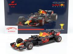 Max Verstappen Red Bull Racing RB14 #33 Vinder Mexico GP formel 1 2018 1:18 Spark