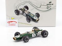 Denis Hulme Brabham BT20 #9 ganador Monaco GP campeón del mundo F1 1967 1:18 Spark