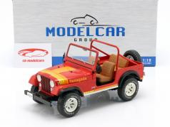 Jeep CJ-7 Renegade Bouwjaar 1976 rood 1:18 Model Car Group
