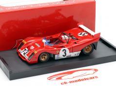 Ferrari 312PB #3T Vinder Targa Florio 1972 Testcar Merzario, Munari 1:43 Brumm