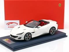 Ferrari Portofino Cabriolet Open Top  year 2017 italia white with showcase 1:18 LookSmart