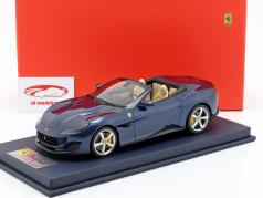 Ferrari Portofino Cabriolet Open Top year 2017 Tour de France blue With Showcase 1:18 LookSmart
