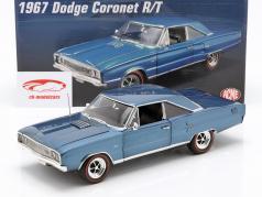 Dodge Coronet R/T Hemi ano de construção 1967 azul 1:18 GMP