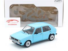 Volkswagen VW Golf I año de construcción 1983 azul claro 1:18 Solido
