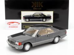 Mercedes-Benz 560 SEC C126 Bouwjaar 1985 antraciet 1:18 KK-Scale