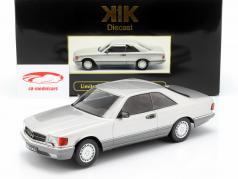 Mercedes-Benz 560 SEC C126 année de construction 1985 argent 1:18 KK-Scale