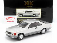 Mercedes-Benz 560 SEC C126 year 1985 silver 1:18 KK-Scale