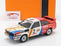 Audi Quattro A1 #2 winnaar Hunsrück Rallye 1984 Demuth, Lux 1:18 Ixo