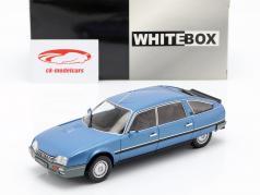 Citroen CX 2500 Prestige Phase 2 Bouwjaar 1986 blauw metalen 1:24 WhiteBox