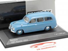 Skoda 1201 station wagon Bouwjaar 1954 blauw 1:43 WhiteBox