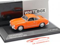 Volkswagen VW Karmann Ghia Opførselsår 1962 appelsin 1:43 WhiteBox