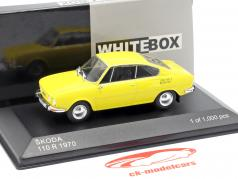 Skoda 110R Bouwjaar 1970 geel 1:43 WhiteBox