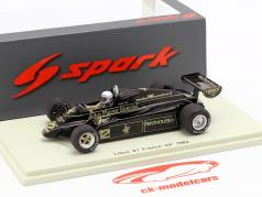 Geoff Lees Lotus 91 #12 francês GP fórmula 1 1982 1:43 Spark