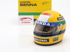 Ayrton Senna McLaren MP4/4 #12 campeón del mundo fórmula 1 1988 casco 1:2