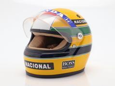 Ayrton Senna McLaren MP4/4 #12 campeão do mundo fórmula 1 1988 capacete 1:2