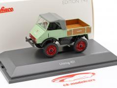 Mercedes-Benz Unimog 401 brilhante verde 1:43 Schuco