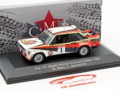 Fiat 131 Abarth #1 ganador Hunsrück Rallye 1980 Röhrl, Geistdörfer 1:43 CMR