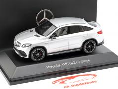 Mercedes-Benz AMG GLE 63 coupe (C292) iridium silver 1:43 Spark