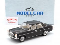Mercedes-Benz 220D (W115) ano de construção 1972 preto 1:18 Model Car Group