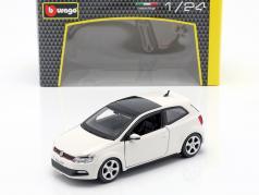 Volkswagen VW Polo MK5 GTI branco 1:24 Bburago