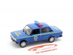 VAZ 2107 polícia azul em bolha 1:43 Altaya