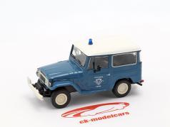 Toyota Land Cruiser FJ40 policía azul / blanco en ampolla 1:43 Altaya