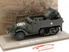 Multiple Gun Motor Carriage military US Army dark olive 1:43 Atlas