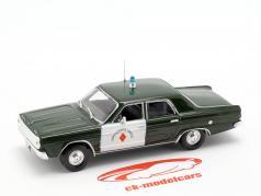 Dodge Dart polícia verde escuro / branco em bolha 1:43 Altaya