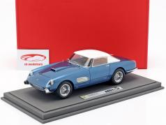 Ferrari Superfast 4.9 Salon Parigi 1957 azul claro / branco 1:18 BBR