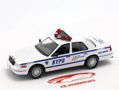 Ford Crown Victoria NYPD blanco / azul en ampolla 1:43 Altaya