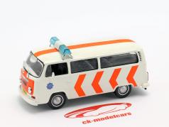 Volkswagen VW T2 governo branco / laranja 1:43 Altaya