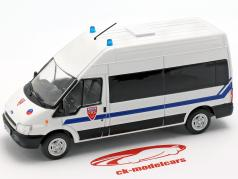 Ford Transit CRS Police Nationale blanco en ampolla 1:43 Altaya