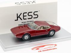 De Tomaso Zonda année de construction 1971 sombre rouge métallique 1:43 KESS