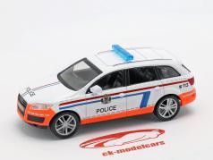 Audi Q7 politi hvid / appelsin i vabel 1:43 Altaya