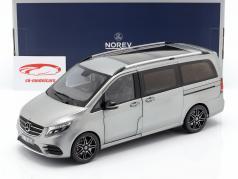 Mercedes-Benz V-Classe AMG-Line ano de construção 2018 cinza metálico 1:18 Norev