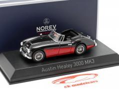 Austin Healey 3000 MK3 ano de construção 1964 preto / vermelho 1:43 Norev