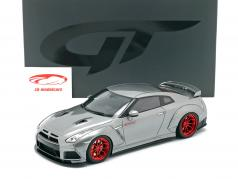 Nissan GT-R (R35) Prior Design 建造年份 2015 灰色 金属的 1:18 GT-Spirit
