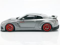 Nissan GT-R (R35) Prior Design anno di costruzione 2015 grigio metallico 1:18 GT-Spirit