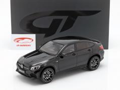 Mercedes-Benz AMG GLC 43 coupe (C253) Opførselsår 2017 obsidian sort 1:18 GT-Spirit