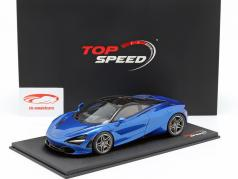 McLaren 720S Baujahr 2017 aurora blau 1:18 TrueScale